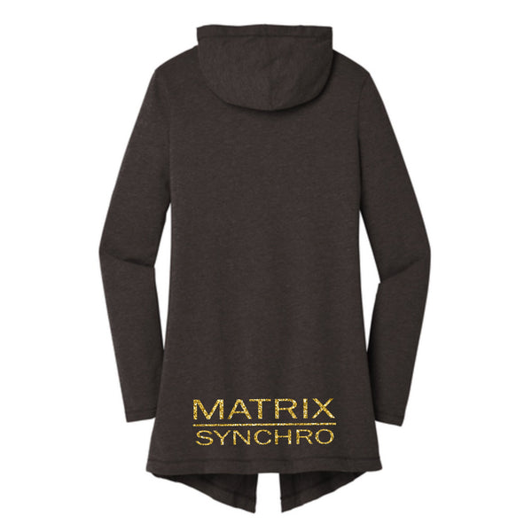 Matrix Mom Women's Perfect Tri ® Hooded Cardigan (Art Front and Back)
