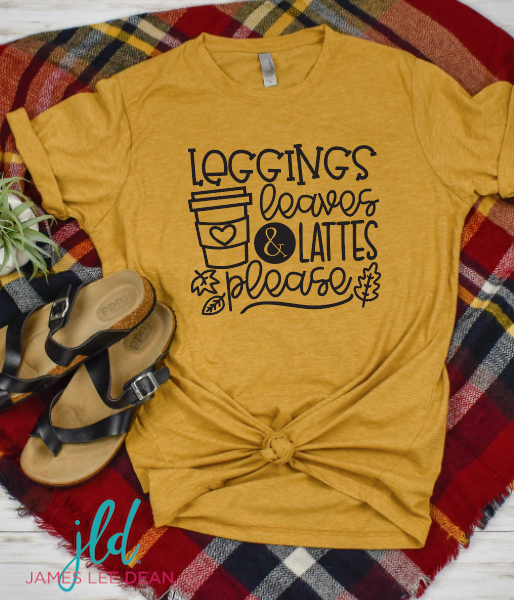 Leggings Leaves and Lattes Tee