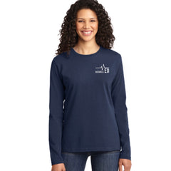 Boswell ED Nurse Flag Ladies Long Sleeve Tee