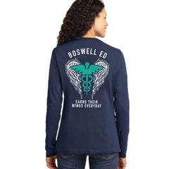 Boswell ED Earns Their Wings Everyday Ladies Long Sleeve Tee