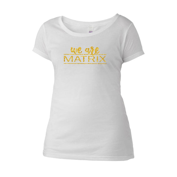 We Are Matrix Scoop Neck Tee