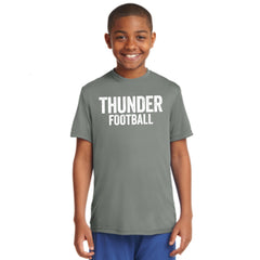 Youth Performance Distressed Thunder Football Tee