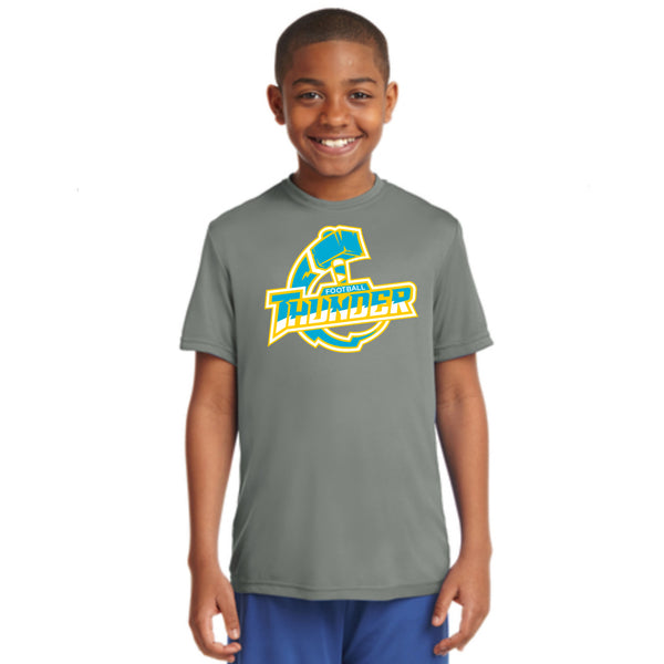 Youth Performance Thunder Logo Tee