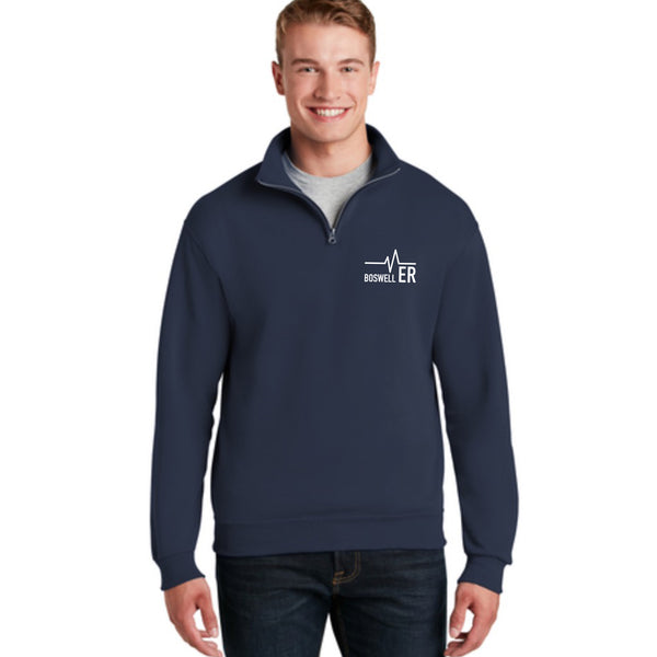 Bosewell ER Heartbeat Flag 1/4 Zip Pullover