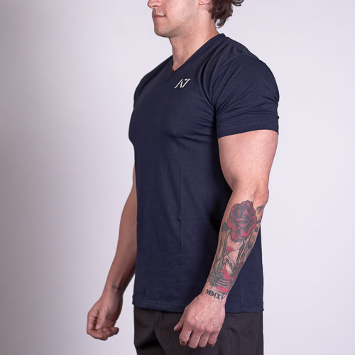 A7 Navy V-Neck Shirt