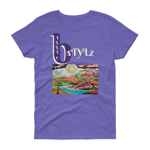 Women's Designer Eden Print Cotton Tee By BILLIE STYLZ