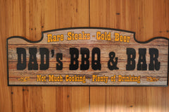 DAD's BBQ & Bar Sign
