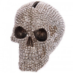 Jeweled Skull Head Money Box