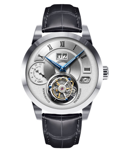 Memorigin Watch Tourbillon Grand Series Silver