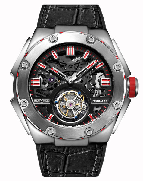 Memorigin Watch Tourbillon Nsquare Series Black
