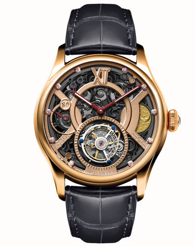 Memorigin Watch Tourbillon Time Witness Series Daniel Chan Black Bracelet