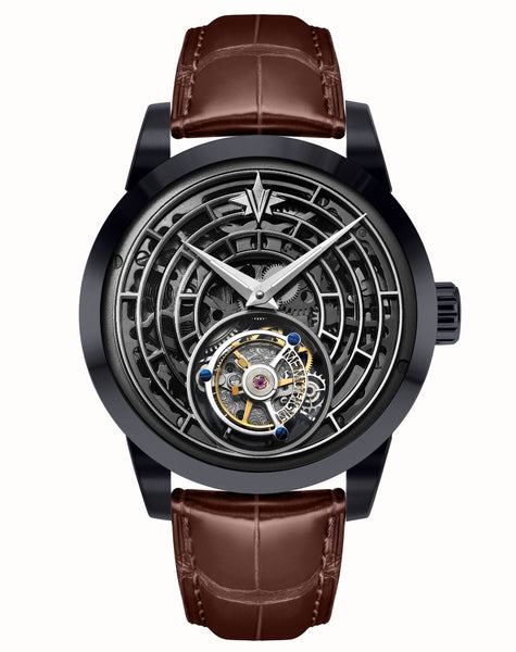 Memorigin Watch Tourbillon Windows of Life Series Brown Bracelet