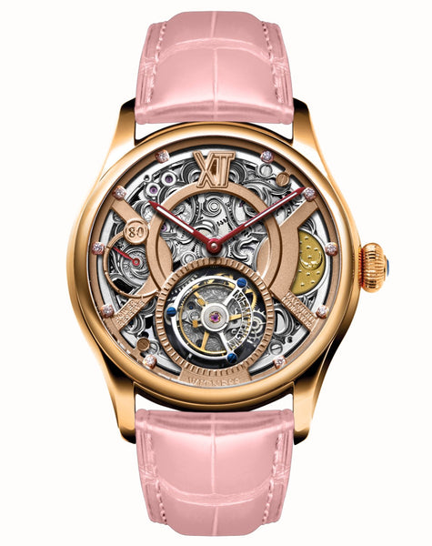 Memorigin Women's Watch Tourbillon Time Witness Series Daniel Chan Pink Bracelet Lady