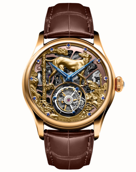 Memorigin Watch Tourbillon Zodiac Dog Series Brown