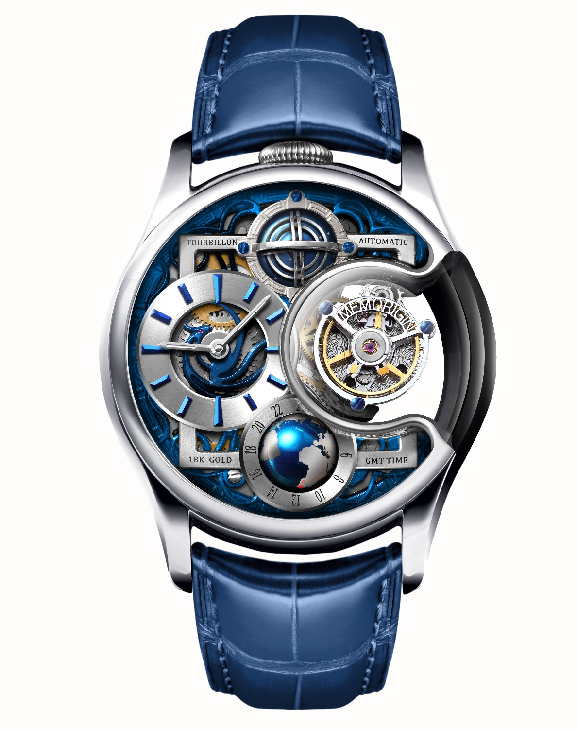 Memorigin Tourbillon Watches Imperial Stellar Silver Bitcoin Astronomia