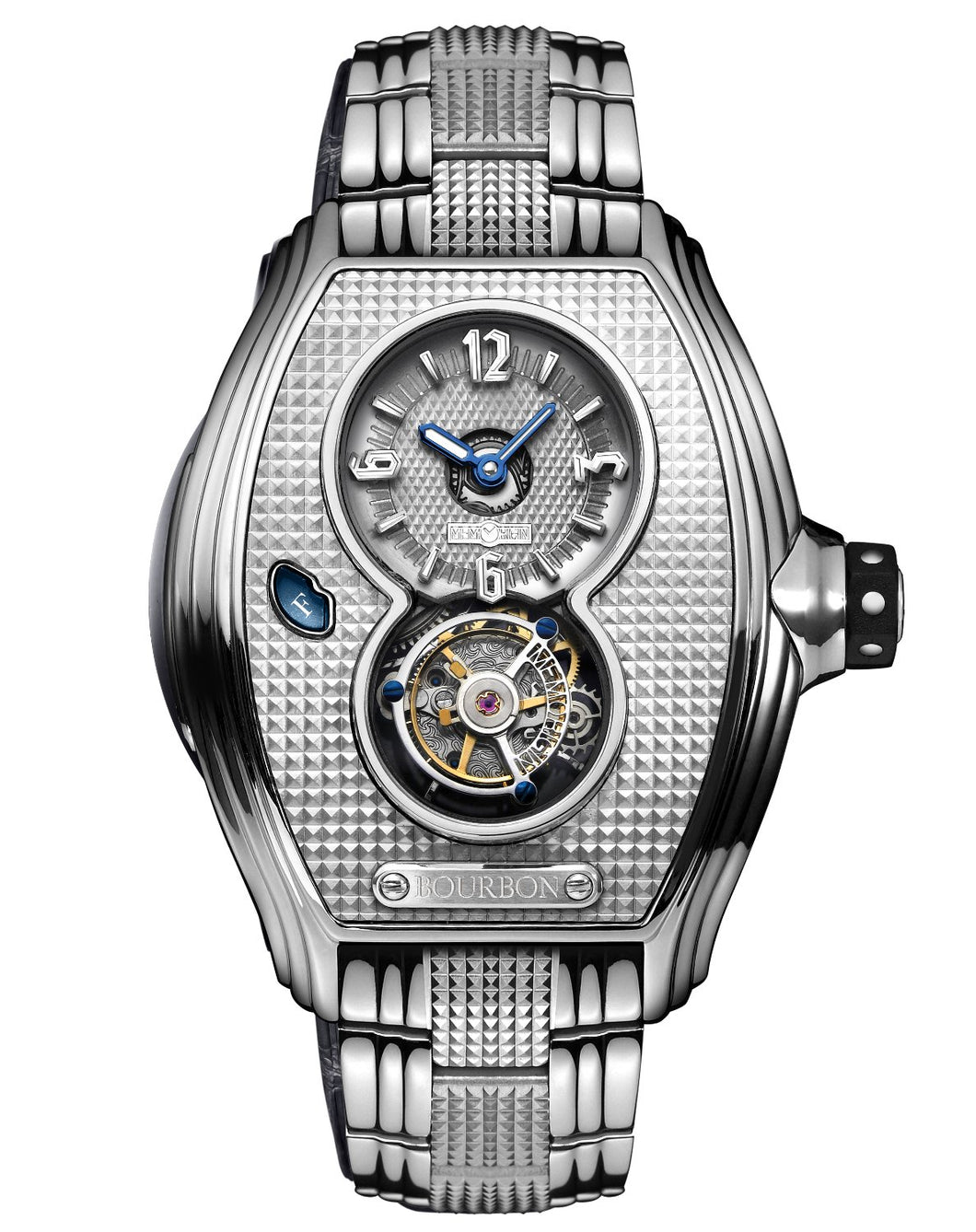Memorigin Watch Tourbillon Bourbon Series Silver Color