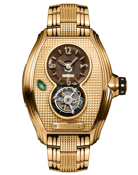 Memorigin Watch Tourbillon Bourbon Series Gold Color