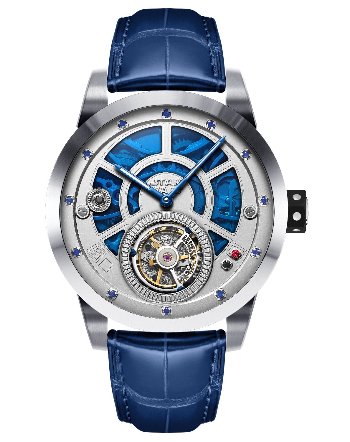 Star Wars Solo R2D2 Memorigin Tourbillon Watches Disney face