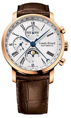 Louis Erard Gold Excellence Collection Swiss Automatic White Dial Men's Watch 80231OR01
