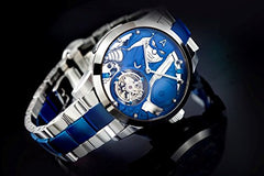 Marvel Avengers Memorigin Tourbillon Watches Captain America Steel Bracelet