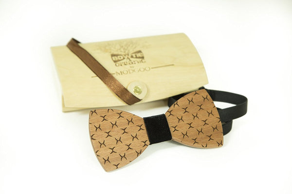 Modgoo Organic Wood Bow Tie Xray Black