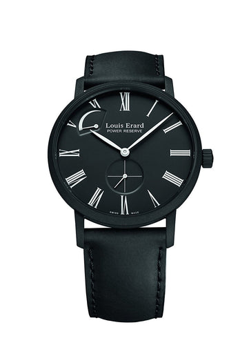 Louis Erard Men's 53230NN22 Excellence Automatic Black leather Watch