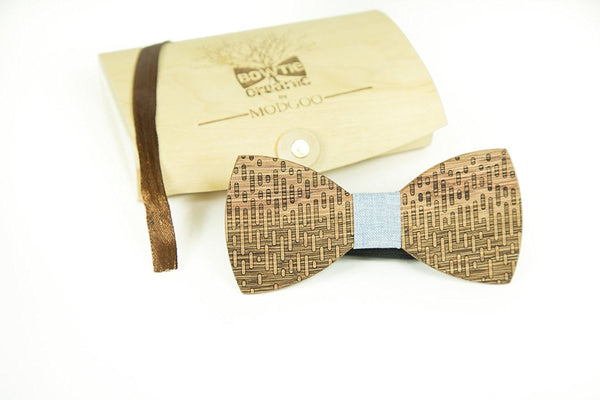 Modgoo Organic Wood Bow Tie Equalizer Blue