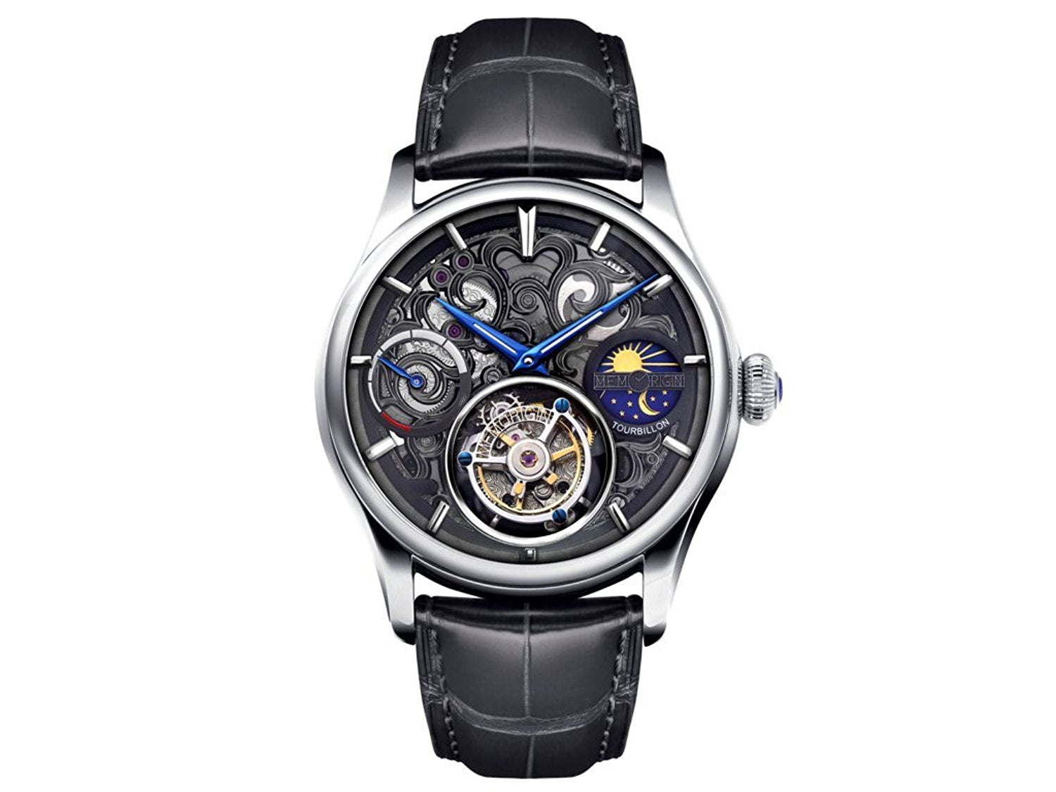Men's MO1006 Navigator Series Stainless Steel Tourbillon Watch