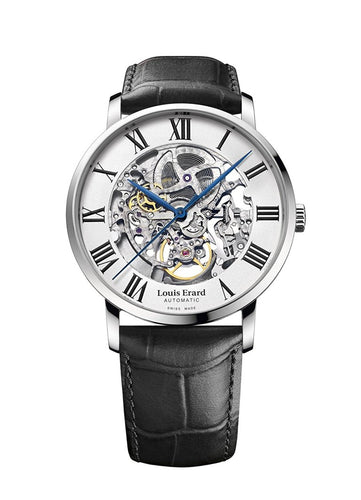 Louis Erard Excellence Collection Swiss Automatic Self-winding White openwork Dial Men's Watch 61233AA22.BDC02