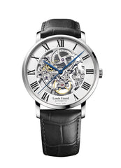 Louis Erard Excellence Swiss Automatic Self-winding White openwork Dial Men's Watch 61233AA22.BDC02