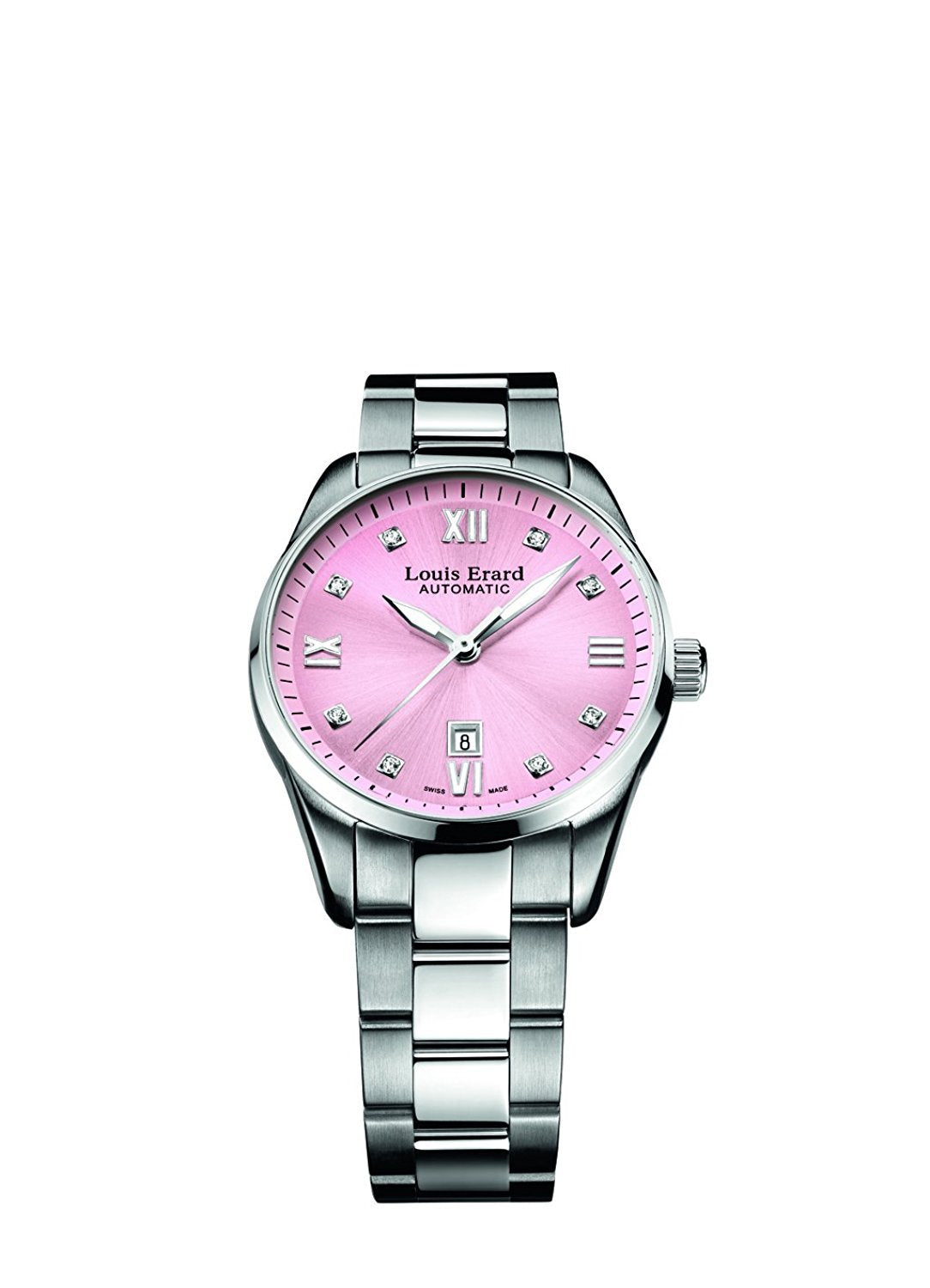 Louis Erard Heritage Collection Swiss Automatic Pink Dial Women's Watch 20100AA18.BMA17