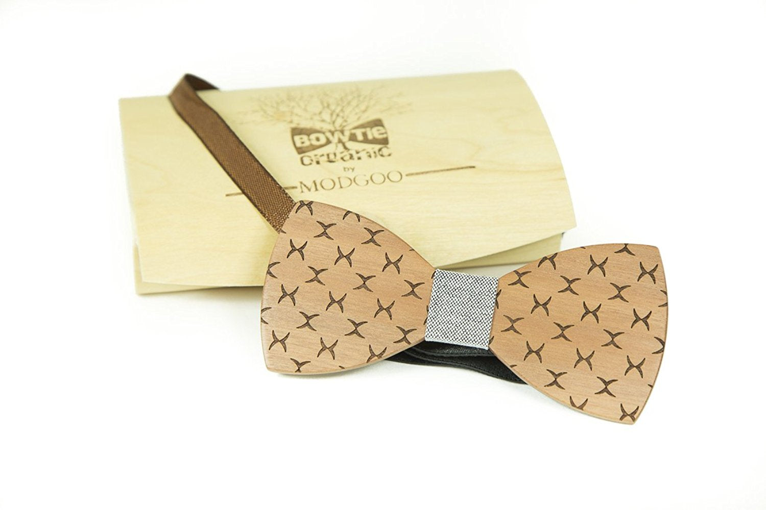 Modgoo Organic Wood Bow Tie Xray Grey