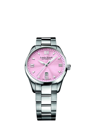 Louis Erard Heritage Collection Swiss Automatic Pink Dial Women's Watch 20100AA08.BMA17