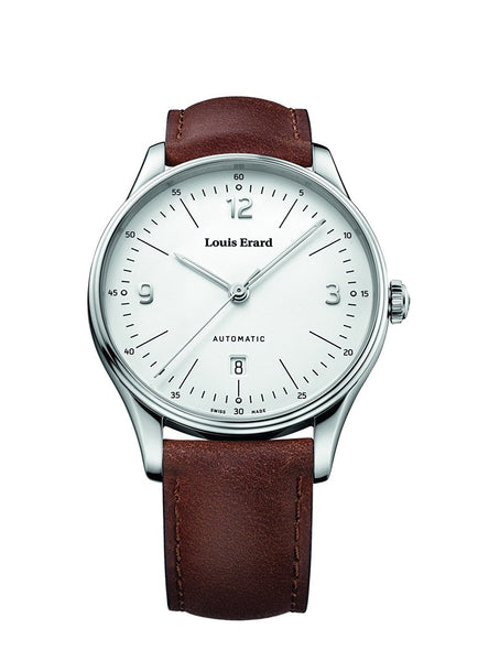Louis Erard Men's Heritage White Dial 69287AA01 Veal Leather strap