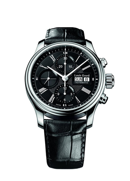 Louis Erard Heritage Collection Swiss Automatic Black Dial Men's Watch 78259AA22.BDC02