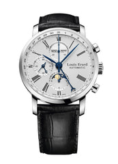 Louis Erard Excellence Collection Swiss Automatic Chronograph Silver dial Dial Men's Watch 80231AA21