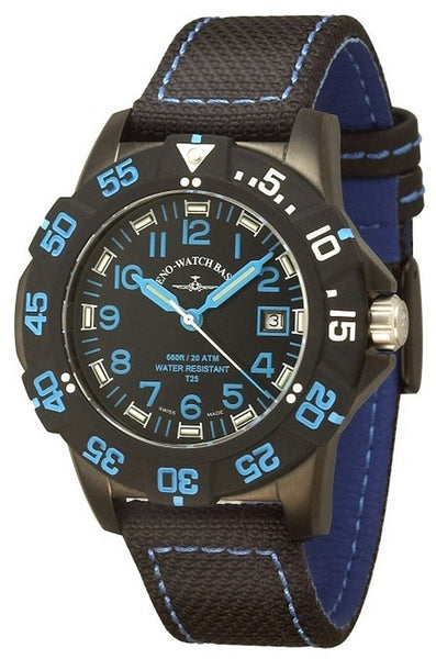 Zeno-Watch Mens Watch - Sport H3 Fashion Diver black&blue - 6709-515Q-a1-4