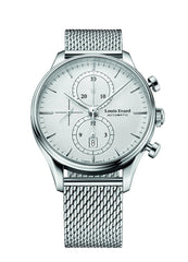 Louis Erard Men's Heritage Collection Silver Dial Chrono 78289AA21M Watch Milanese strap