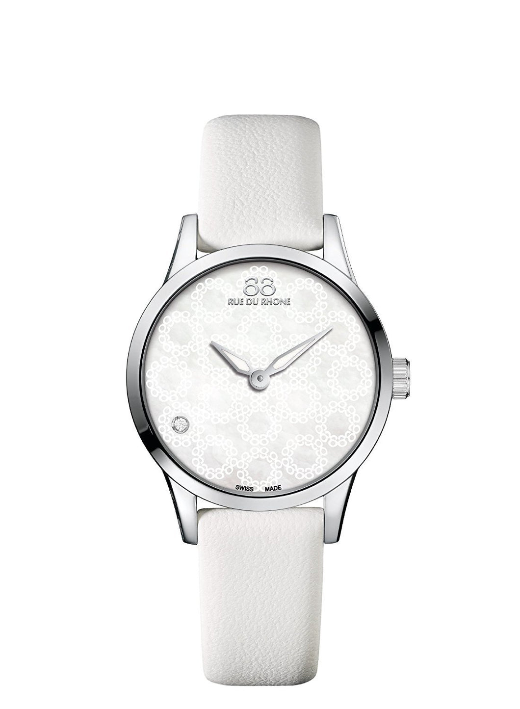 88 Rue du Rhone Swiss Quartz Watch Women  87WA163201 white bracelet
