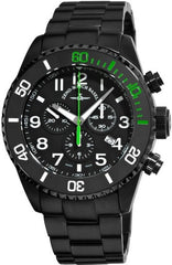 Zeno-Watch Mens Watch - Diver Ceramic Chrono black&green - 6492-5030Q-bk-a1-8M