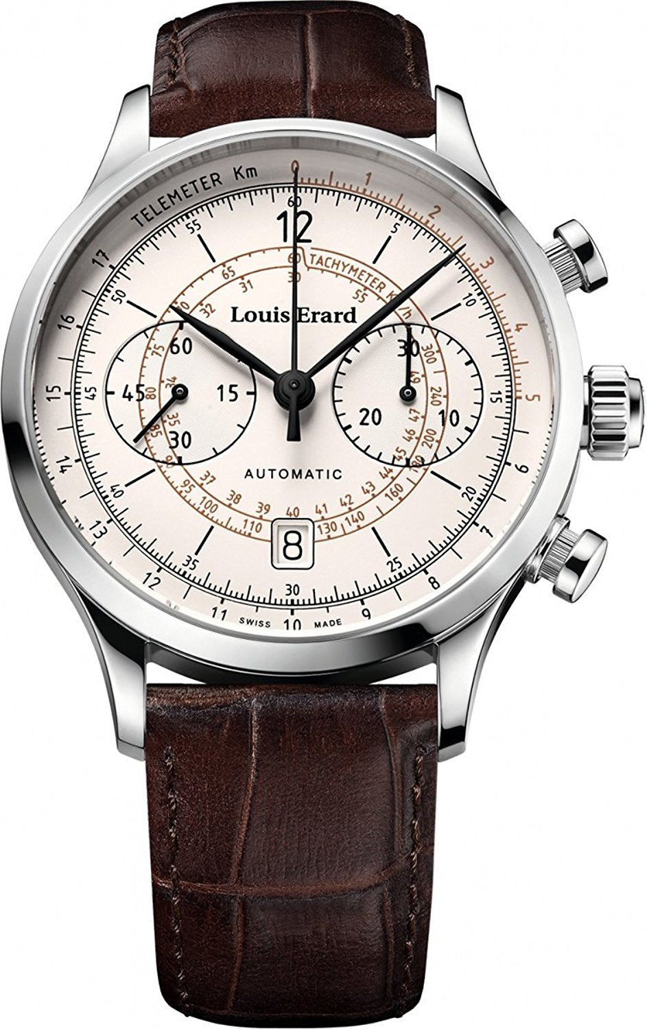 Louis Erard 1931 Collection Swiss Automatic White Dial Telemeter Men's Watch 71245AA01.BDC21