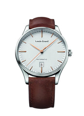 Louis Erard Men's Heritage Silver Dial 69287AA31 Veal Leather strap
