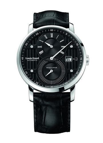 Louis Erard Excellence Collection Swiss Automatic Selfwinding Black Dial Men's Watch 86236AA02.BDC51 ...
