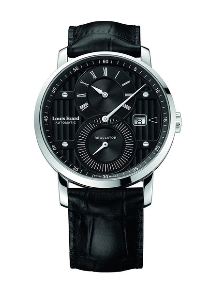 Louis Erard Excellence Swiss Automatic Selfwinding Black Dial Men's Watch 86236AA02.BDC51