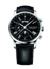 Louis Erard Excellence Collection Swiss Automatic Black Dial Men's Watch 80231AA02.BDC51