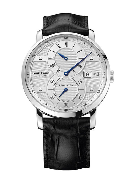 Louis Erard Excellence Collection Swiss Automatic Selfwinding Silver Dial Men's Watch 86236AA11