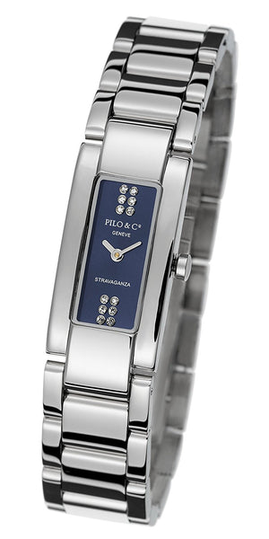 Pilo & Co Geneva Swiss Quartz Stravaganza Women's Watch collection P0059DQS MB