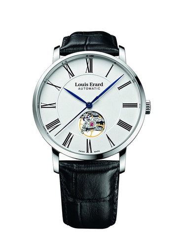 Louis Erard Excellence Collection Swiss Automatic White Dial Women's Watch With Open Balance 62233AA10.BDC02