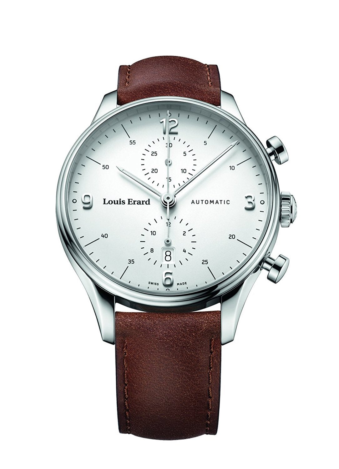 Louis Erard Men's Heritage Chronograph White Dial 78289AA01 Veal brown