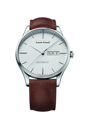 Louis Erard Men's Heritage Silver Dial 72288AA21 Veal Leather strap